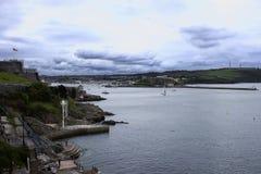 Cielo drammatico sopra la zappa di Plymouth, Inghilterra Fotografie Stock Libere da Diritti