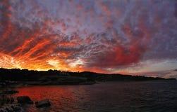 Cielo drammatico, tramonto Immagine Stock