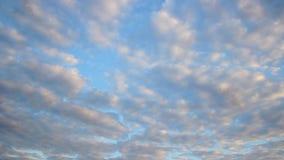 Cielo durante puesta del sol almacen de video
