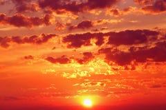 Cielo durante puesta del sol Imágenes de archivo libres de regalías
