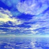 Cielo durante tiempo del día ilustración del vector