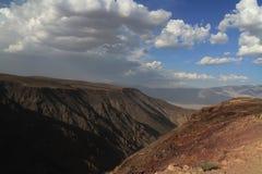 Cielo e canyon Fotografia Stock