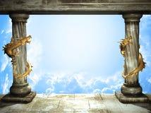 Cielo e draghi Fotografia Stock Libera da Diritti