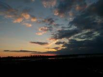 Cielo e fiume Fotografia Stock Libera da Diritti