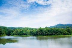 Cielo e fiume di ChetKhot Immagini Stock