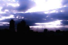 Cielo e Godrays Fotografia Stock