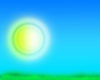 Cielo e hierba verde stock de ilustración