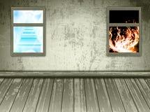 Cielo e infierno Imagen de archivo libre de regalías