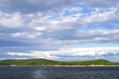 Cielo e lago Immagini Stock Libere da Diritti