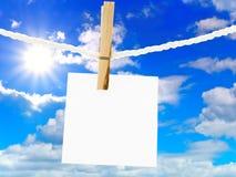 Cielo e nota fotografie stock libere da diritti