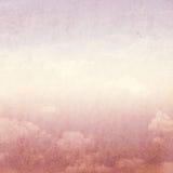 Cielo e nubi dell'annata Immagine Stock