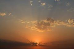 Cielo e nubi di sera fotografia stock