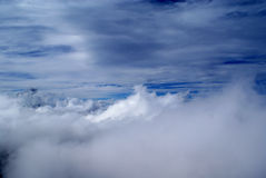 Cielo e nubi drammatici Fotografia Stock