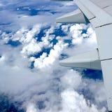 Cielo e nuvola dall'aereo di aria Fotografia Stock