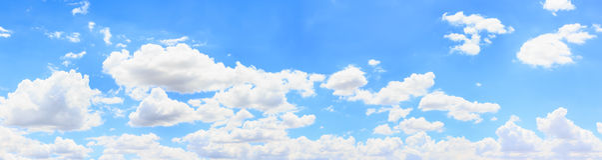 Cielo e nuvola di panorama Fotografia Stock