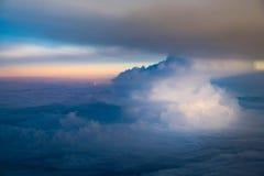 Cielo e nuvola di tramonto Fotografia Stock