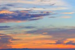 Cielo e nuvola e sole Fotografia Stock