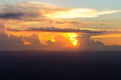 Cielo e nuvola e sole Immagini Stock