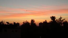 Cielo e nuvola e trea Fotografia Stock Libera da Diritti