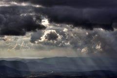 Cielo e nuvole tempestosi Fotografie Stock