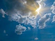 Cielo e sole fotografia stock libera da diritti