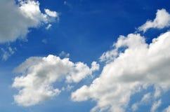 Cielo e sole con le nuvole Immagine Stock Libera da Diritti