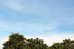 Cielo e sole con le nuvole Immagine Stock