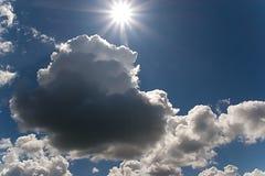 Cielo e sole della natura Fotografia Stock Libera da Diritti