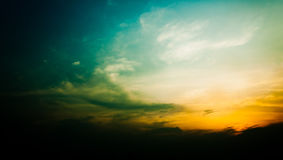 Cielo e tramonto della nube di Grunge Fotografia Stock