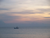 Cielo ed acqua al tramonto Fotografia Stock