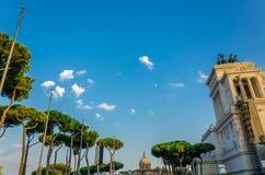 Cielo ed alberi di Roma Fotografie Stock Libere da Diritti