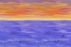 Cielo ed oceano Fotografia Stock Libera da Diritti