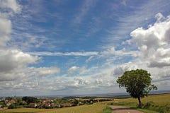 Cielo en campo Imagenes de archivo