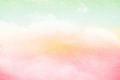 cielo en colores pastel del grunge y nube suave fotos de archivo