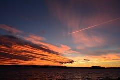 Cielo en el fuego Imagenes de archivo