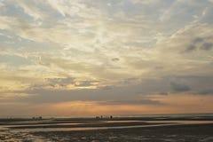 Cielo en el tiempo de la puesta del sol Foto de archivo libre de regalías