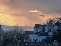 Cielo en Heidelberg Alemania Fotos de archivo libres de regalías