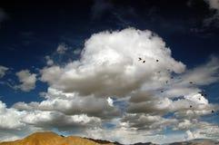 Cielo en la meseta de Tíbet Fotografía de archivo libre de regalías