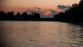 Cielo en la puesta del sol Fotografía de archivo