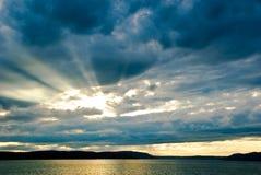 Cielo en la puesta del sol imágenes de archivo libres de regalías