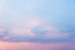 Cielo en puesta del sol imágenes de archivo libres de regalías