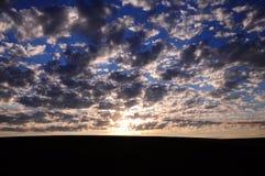 Cielo en Shymkent Imagenes de archivo