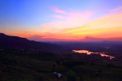 Cielo en tiempo de la puesta del sol Fotografía de archivo libre de regalías