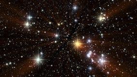 Cielo estrellado colorido en la noche con el fondo V2 de Loopable de los rayos ligeros