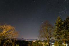 Cielo estrellado con la vía láctea en el verano, rttemberg del ¼ de Baden-WÃ, Alemania foto de archivo