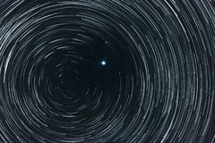 Cielo estrellado con los rastros Fotografía de archivo libre de regalías
