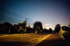 cielo estrellado de la noche Fotos de archivo