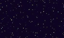 cielo estrellado de la noche stock de ilustración
