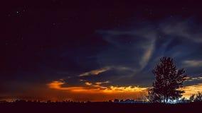Cielo estrellado de la noche hermosa Fotografía de archivo
