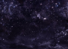 Cielo estrellado en el espacio abierto Fotografía de archivo libre de regalías